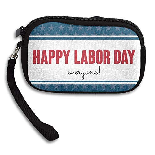 WCVRUT Unisex Clutch Wallet For Woman Ladies -Happy-Labor-Day-Everyone Long Purse Bag Men Gentlemen by WCVRUT