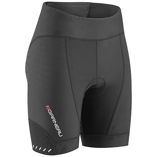 Louis Womens Shorts - Louis Garneau Women's Optimum 7 Bike Shorts, Padded and Breathable for All-Weather Riding, Black, Medium