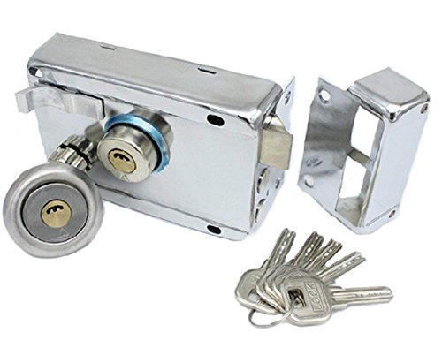Exterior Door Locks Security Anti-Theft Lock Multiple Insurance Lock Iron Gate Door Lock for Furniture Hardware
