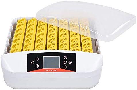 自動インキュベーターデジタルLEDディスプレイ、鶏、アヒル、ガチョウ用のライト56S鶏hatch化装置ボックス付きホーム卵インキュベーター