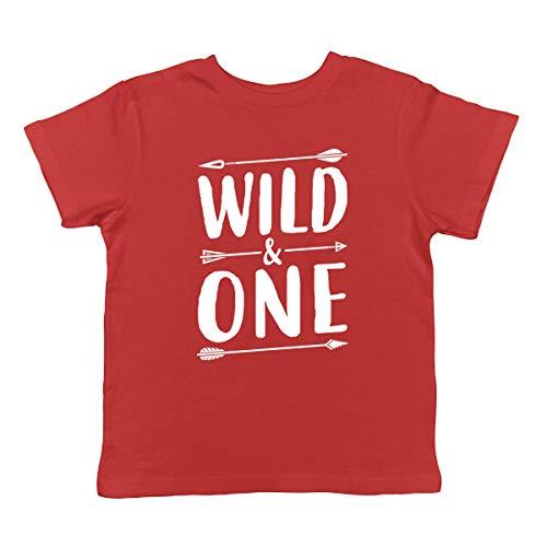SpiritForged Apparel Wild & One Infant T-Shirt, Red 12 Months