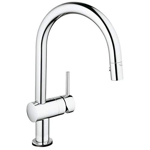 Grohe Single Handle Faucets - Minta Single-Handle Pull-Down High Arc Kitchen Faucet