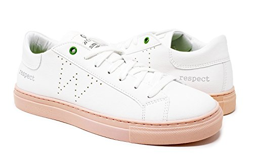 Italy Made Womsh Unisex Snik Bianco rosa Microfibra Sneakers In Vegan nBqxTP