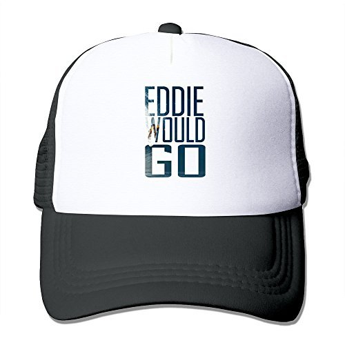EDDIE Aikau WOULD GO Black Mesh Unisex Adult-one Size Snapback Trucker - And Ness Kids Mitchell