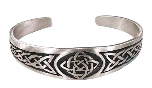 Dan's Jewelers Classic Celtic Knot Bracelet with Irish Design, Fine Pewter Jewelry (Celtic Bracelet)