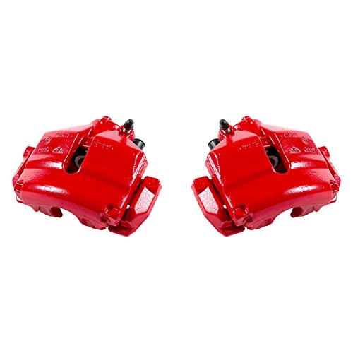 CK01010 [ 2 ] FRONT Performance [ 2WD FWD ] Red Powder Coated Semi-Loaded Caliper Assembly Set