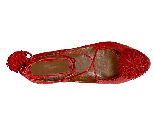 AQUAZZURA Ballerine Rosso Donna SNHFLAAA0SUEF00 Pelle qIIxwRdgr