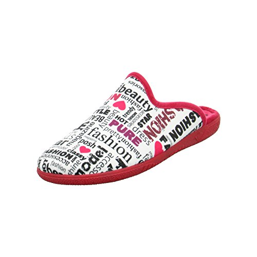 Schuhdiscount Damen Hausschuhe Rot