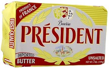 (pack of 3) President Unsalted Butter in Foil (7 oz / 199 g)