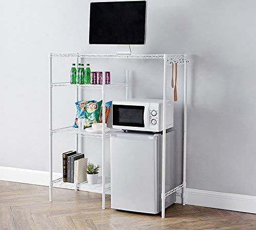 Mini Refrigerator Cabinet - DormCo The Shelf Supreme - Adjustable Shelving - White