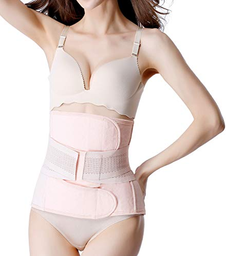 Postpartum Girdle C-Section Recovery Belt Back Support Belly Wrap Belly Band Shapewear Pink