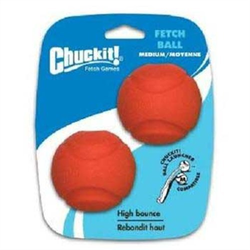 Chuckit! Medium Fetch Ball 2.5-Inch, 2-Pack (Colors Vary), My Pet Supplies