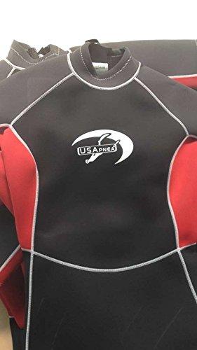 USApnea Womens 2mm Shorty Wetsuit Black//Red