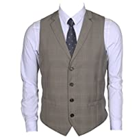 Ruth&Boaz Men's 2Pockets 4Buttons Business Tailored Collar Suit Vest