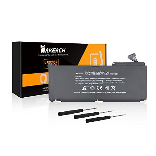 Wakeach A1342 New Laptop Battery for Apple A1331 Unibody Mac