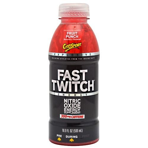 CytoSport Fast Twitch RTD - Nitric Oxide Booster - Fruit Punch - 12 - 16.9 fl oz (500ml) Bottles