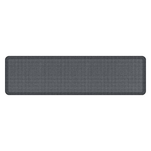 "NewLife by GelPro Anti-Fatigue Designer Comfort Kitchen Floor Mat, 20x72'', Tweed Nickel Grey Stain Resistant Surface with 3/4"" Thick Ergo-foam Core for Health and Wellness by NewLife by GelPro"