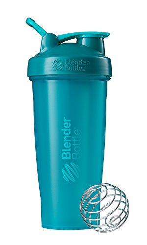 BlenderBottle Classic Loop Top Shaker Bottle, Teal/Teal, 28-Ounce Loop Top