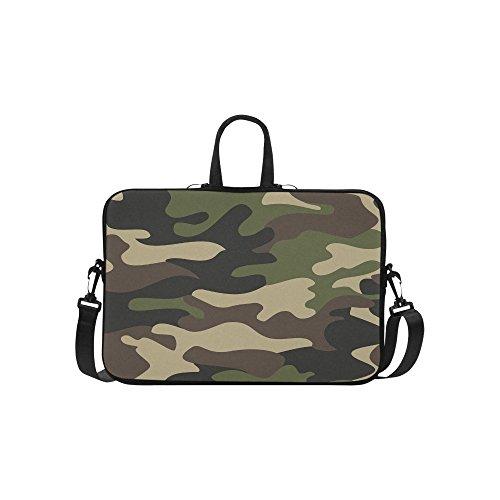 InterestPrint Military Camoflage Laptop Sleeve Case Bag