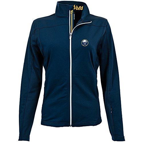 Levelwear LEY9R NHL Buffalo Sabres Women's Aurora Insignia Banner Stripe Full Zip Mid-Layer Apparel, Medium, ()