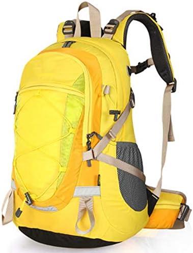 40Lアウトドアスポーツハイキングバックパック、 ナイロン布、 ロッククライミング/旅行、 男性と女性,Yellow