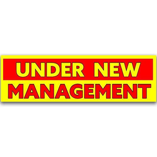 - Under New Management Vinyl Banner 10 Feet Wide by 3 Feet Tall