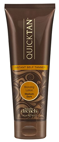 Body Drench Quick Tan Instant Self Tanner Lotion, Medium/Dar