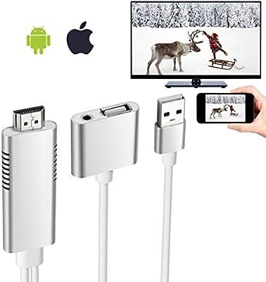 Adaptador de Cable HDMI, Elegante Cable de Espejo HD a Conector ...