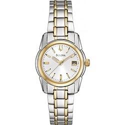 Bulova 98M105 Ladies Two Tone Dress Watch