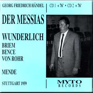 Handel: Der Messias (Stuttgart 1959)