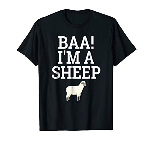 Baa I'm A Sheep T-Shirt Lazy Halloween Easy Costume Shirt]()