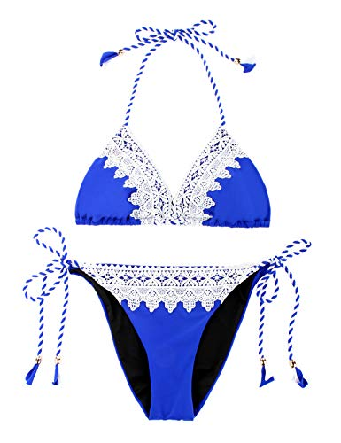 Blue And White Triangle Bikini in Australia - 1
