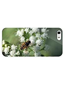 3d Full Wrap Case for iPhone 5/5s Animal Bee On White Blossoms by icecream design