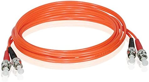 C2G 05575 OM2 Fiber Optic Cable Orange 6.6 Feet, 2 Meters ST-ST 62.5//125 Duplex Multimode PVC Fiber Cable
