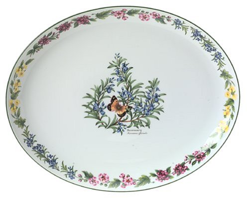 Royal Worcester Herbs Porcelain 14-Inch Oval ()