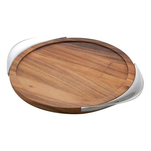 Nambe Tilt Bar Tray (Brown Mirror Drip)