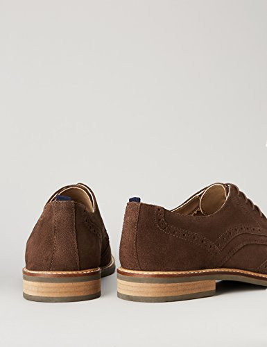 Suédé en Marron Cuir FIND Homme Taupe Derbies awnfF8
