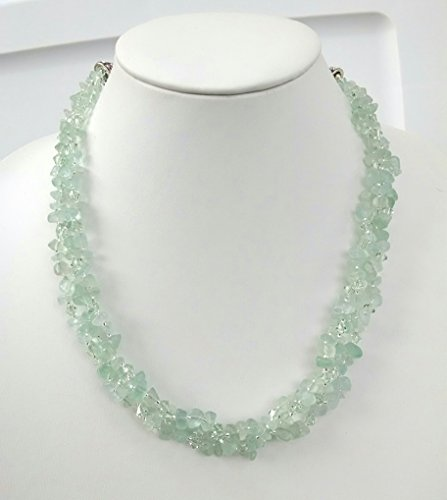 Set Fluorite Necklace (Green Fluorite braided necklace and earring set)