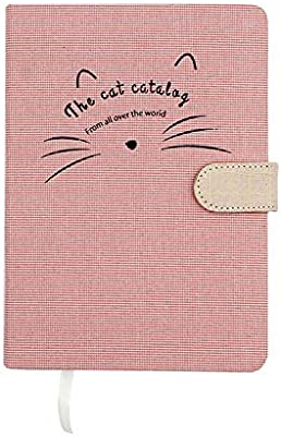 Amazon.com: Cute Cat Hard Cover Cuaderno Vintage Linen Tela ...