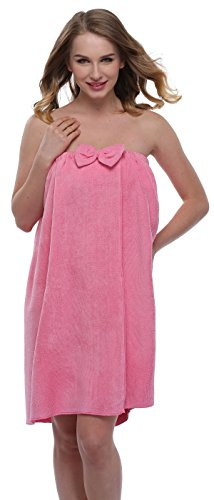 - ExpressBuyNow Spa Bath Towel Wrap For Ladies , Rose , free size