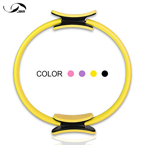 JBM Pilates Ring Fitness Ring 4 Colors, Pilates Circle Fitness Magic Circle for Fitness Training, Full-Body Workout, Barre - Toning, Sculpting, Strength, Flexibility (Purple & Purple, one size)