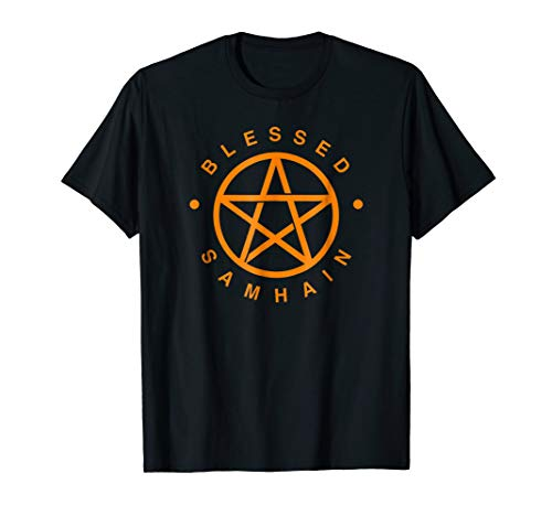 Blessed Samhain T Shirt Pentacle Pagan Holiday Tee -
