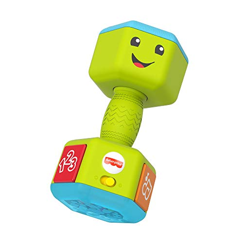 🥇 Fisher-Price Laugh & Learn Countin' Reps Dumbbell rattle toy with music