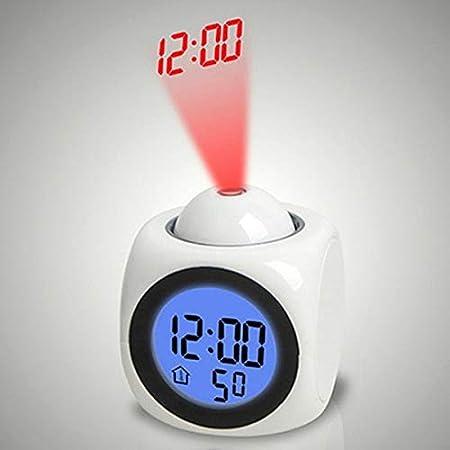 Noche proyector de luz de Navidad Alarma de temperatura Reloj luz ...