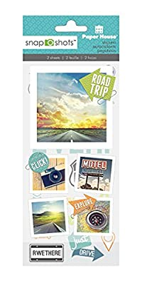 Paper House Productions STSS-2002E Snapshot Sticker, Road Trip (3-Pack)