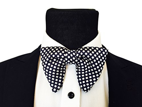 Mens RessoRoth Oversized Bow Tie - Tuxedo PolkaDot Bowtie, Mens big bow - Bow Tie Oversized