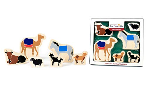 Star From Afar Stable Animals - Christmas add on  Colorful Wooden Toys - Great Christian or Catholic Gift for Children