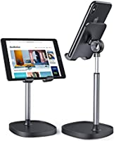 Cell Phone Stand, Angle Height Adjustable LISEN Phone Stand For Desk, Thick Case Friendly Phone Holder Stand For Desk,...