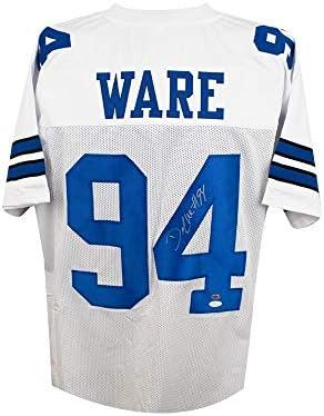 c34e0b83baa DeMarcus Ware Autographed Dallas Cowboys Custom White Football Jersey - JSA  COA