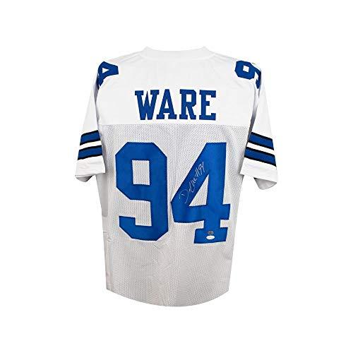 6bfed4f18 DeMarcus Ware Autographed Dallas Cowboys Custom White Football Jersey - JSA  COA
